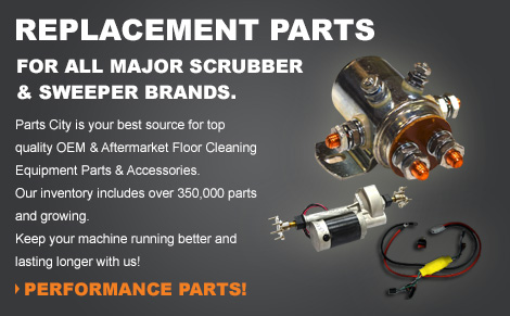 Replacement parts for all major scrubber & sweeper brands